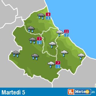 Previsioni meteo Abruzzo 5 gennaio