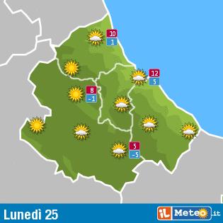 Previsioni meteo Abruzzo 25 gennaio