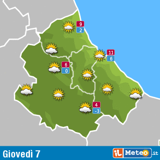 Previsioni meteo Abruzzo 7 gennaio