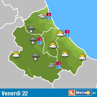 Previsioni meteo Abruzzo 22 gennaio