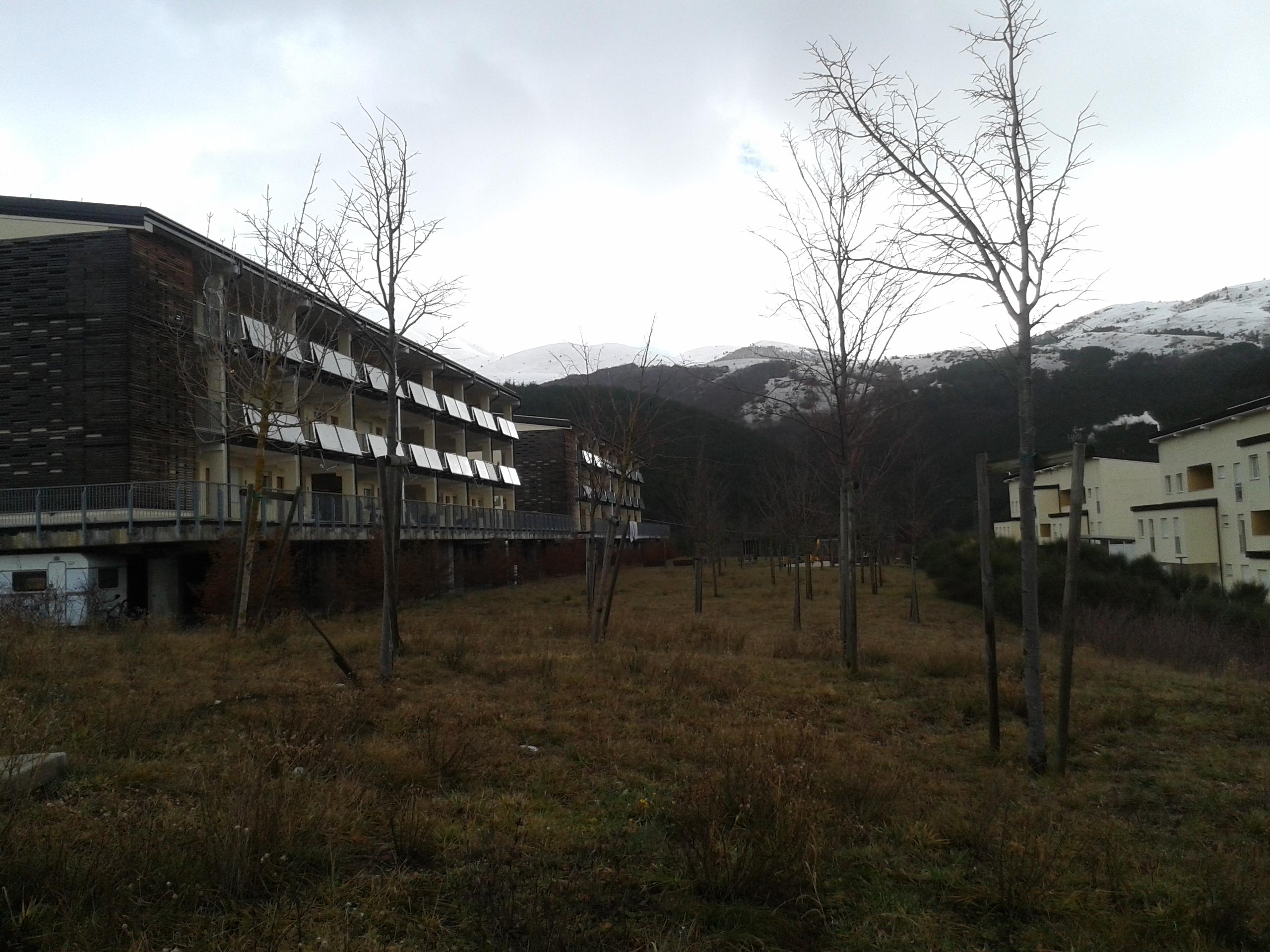 Sisma, new town di Assergi tra abbandono e disservizi