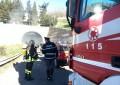 Incendio in A14, autisti ancora bloccati
