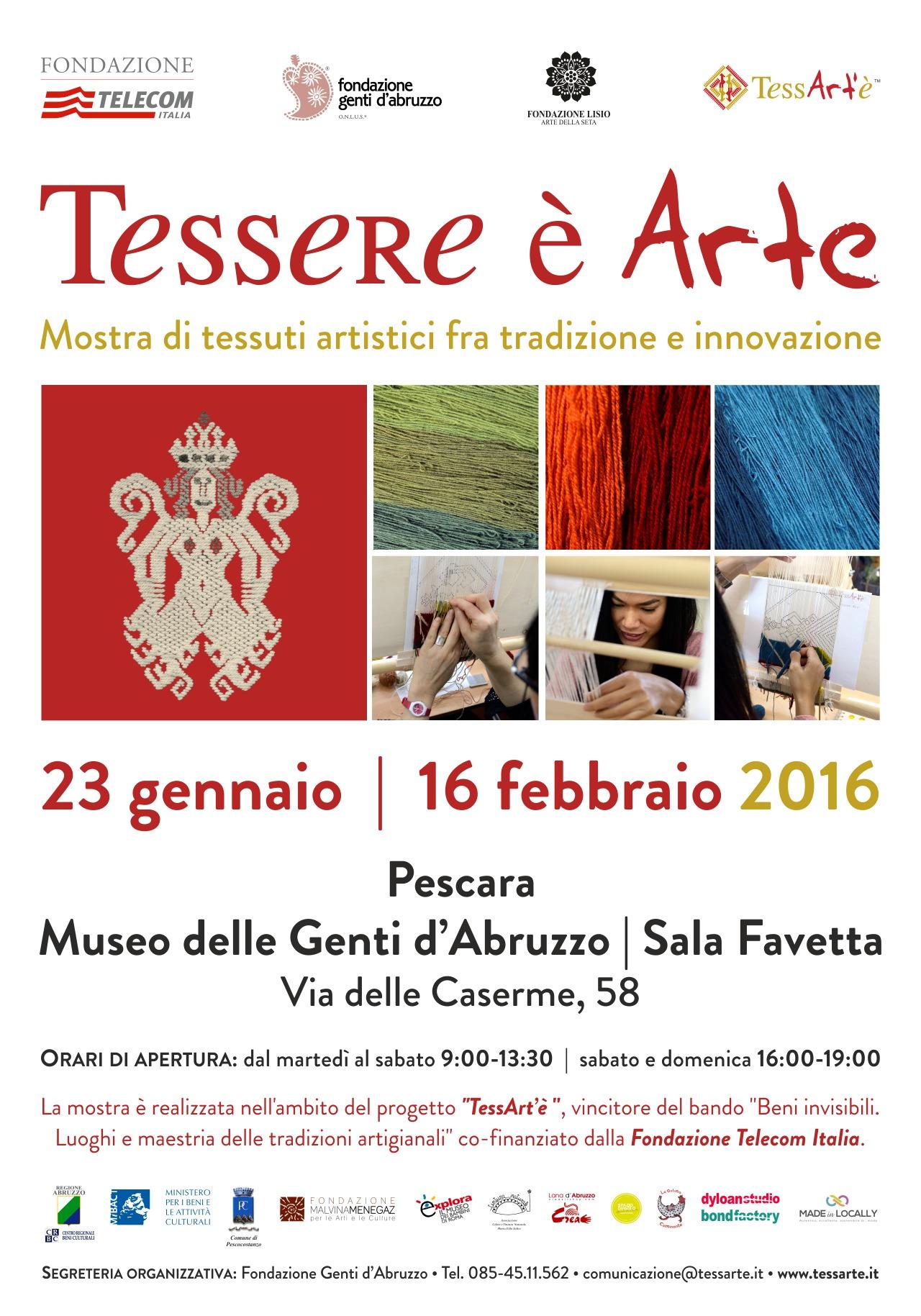 'Tessere è Arte' al Museo delle Genti a Pescara