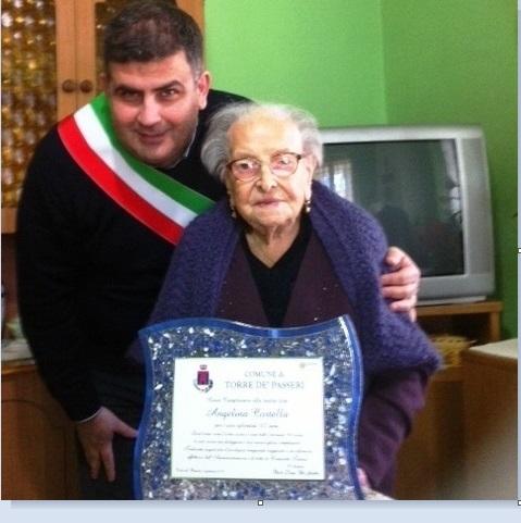 Torre de' Passeri: una nonnina di 107 anni