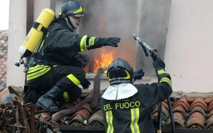 Incendio in una palazzina a Gioia dei Marsi, sgomberata una famiglia