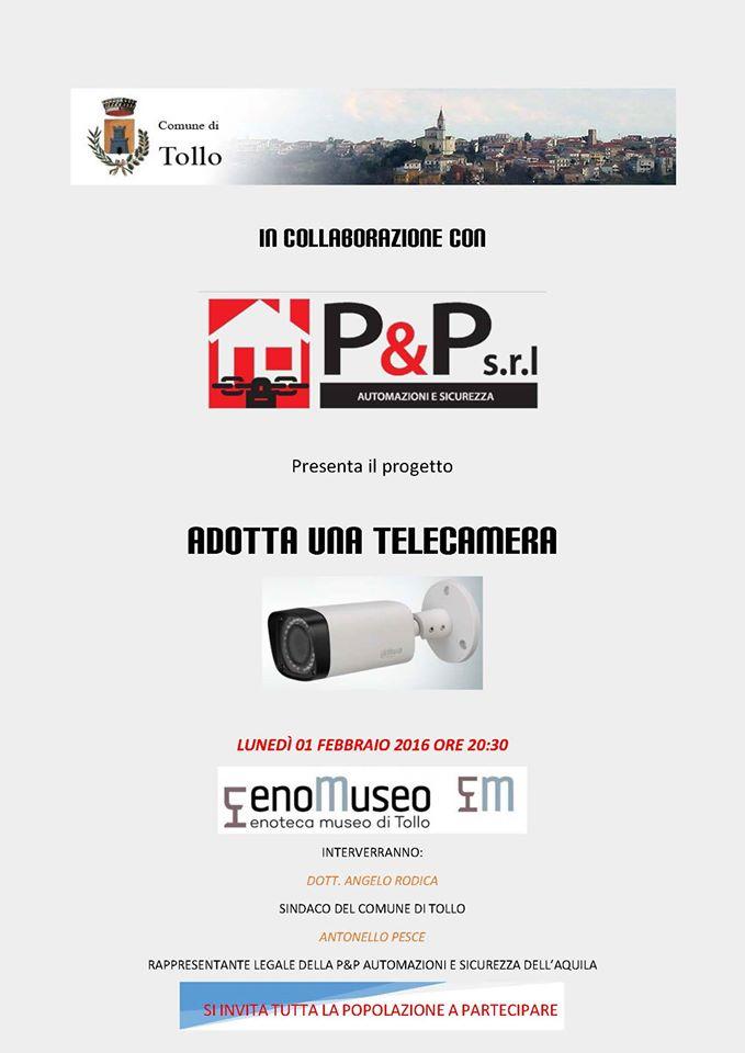 """Tollo: sindaco lancia """"Adotta una telecamera"""""""