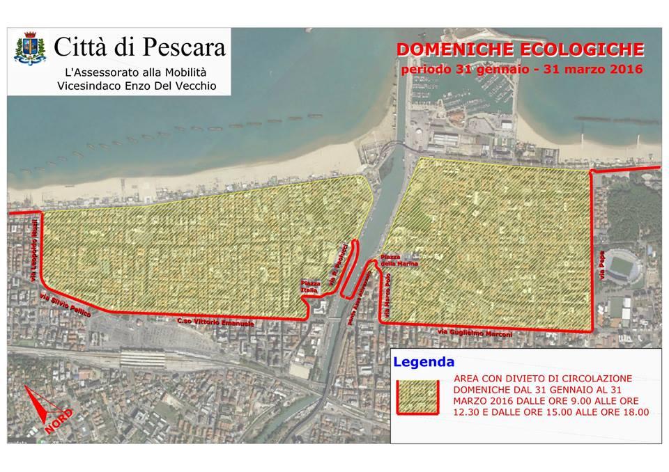Pescara: da dopodomani le domeniche ecologiche