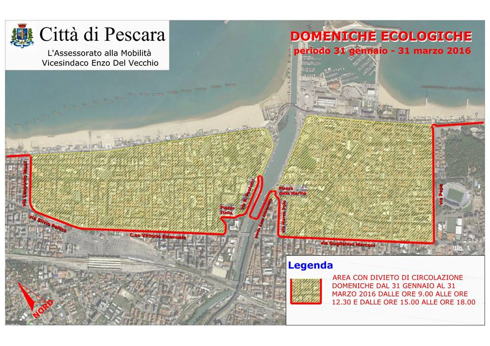Oggi domenica ecologica a Pescara
