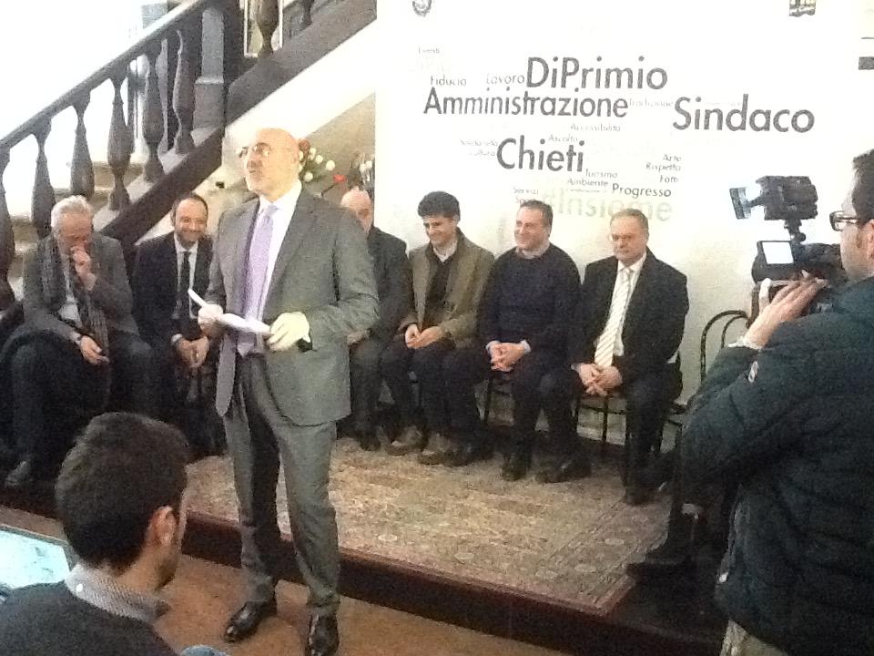Comune Chieti: Di Primio, 2015 anno della svolta