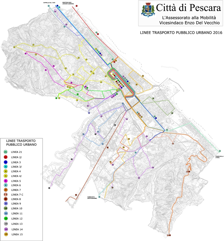 linee urbane senza frequenze pardi