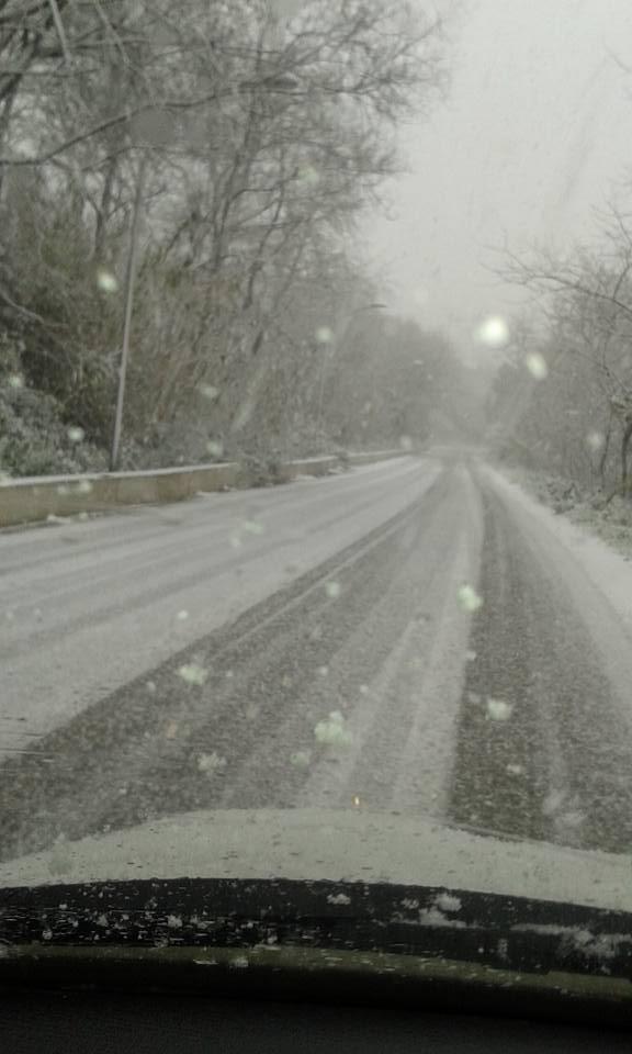 Neve a Montesilvano disagi soprattutto al Colle