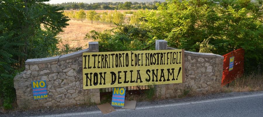 Sulmona: Nuovo Sit In contro la Centrale Snam