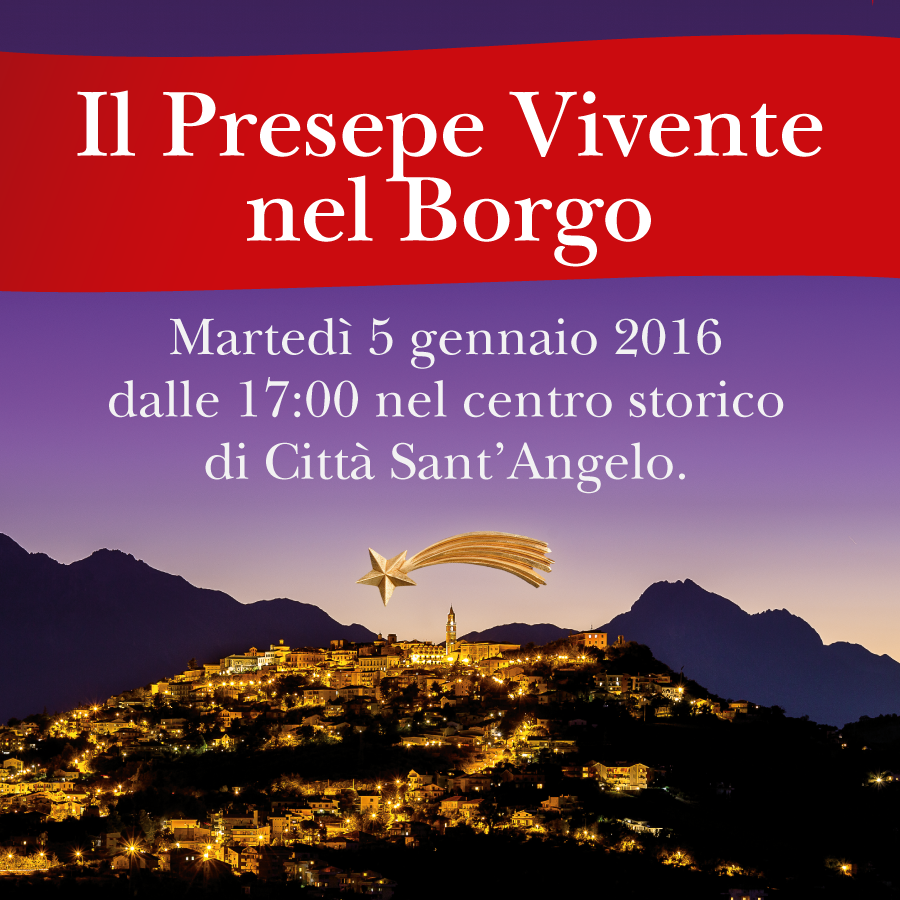 Città S. Angelo: Presepe vivente nel Borgo
