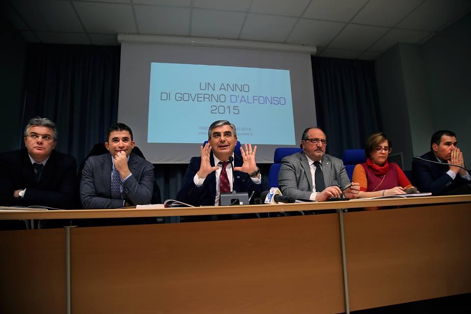 D'Alfonso traccia bilancio attività di governo per il 2015