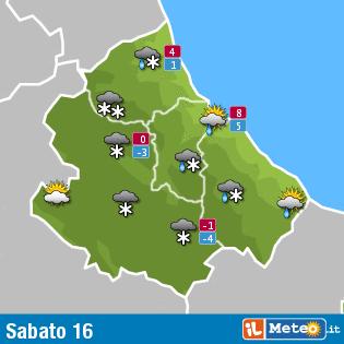 Previsioni meteo Abruzzo 16  gennaio