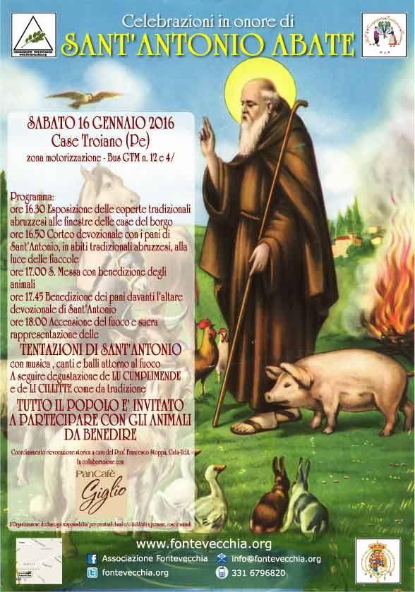 Spoltore: celebrazioni per Sant'Antonio Abate a Case Troiano