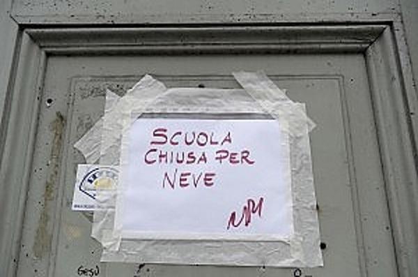 Neve: Scuole chiuse in Abruzzo 18 Gennaio