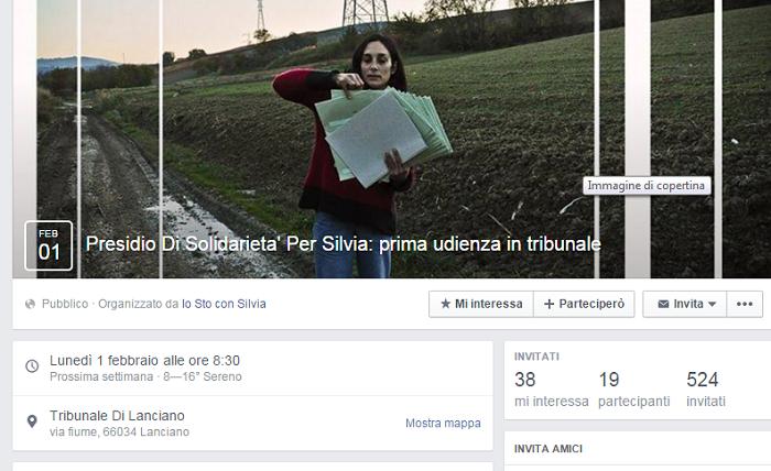 Presidio al Tribunale per Silvia, citata da Terna per 16 milioni