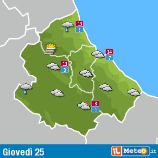 Previsioni meteo Abruzzo 25 febbraio
