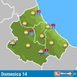 Previsioni meteo Abruzzo 14 febbraio