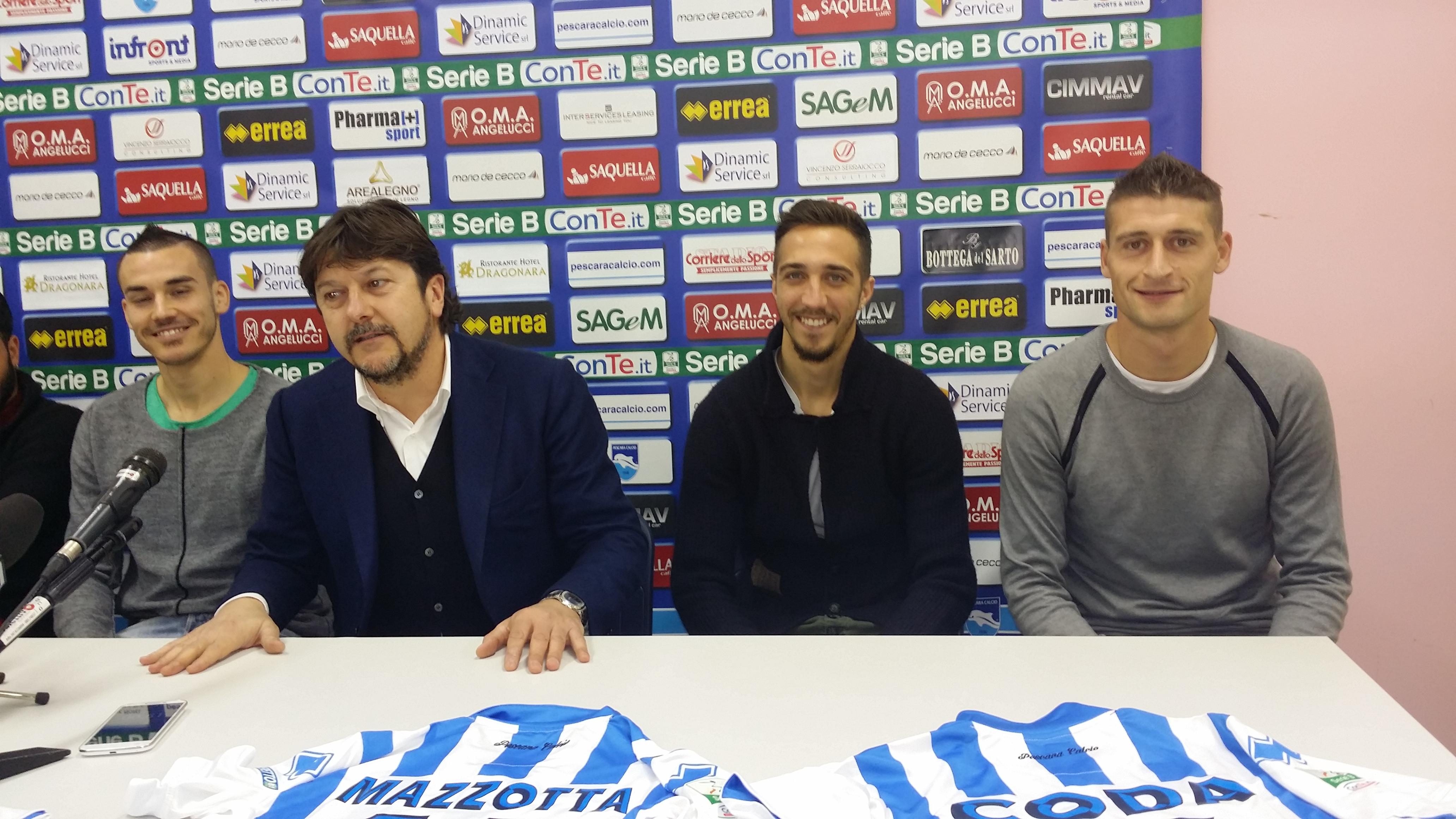 """Pescara calcio, ecco i """"nuovi"""""""
