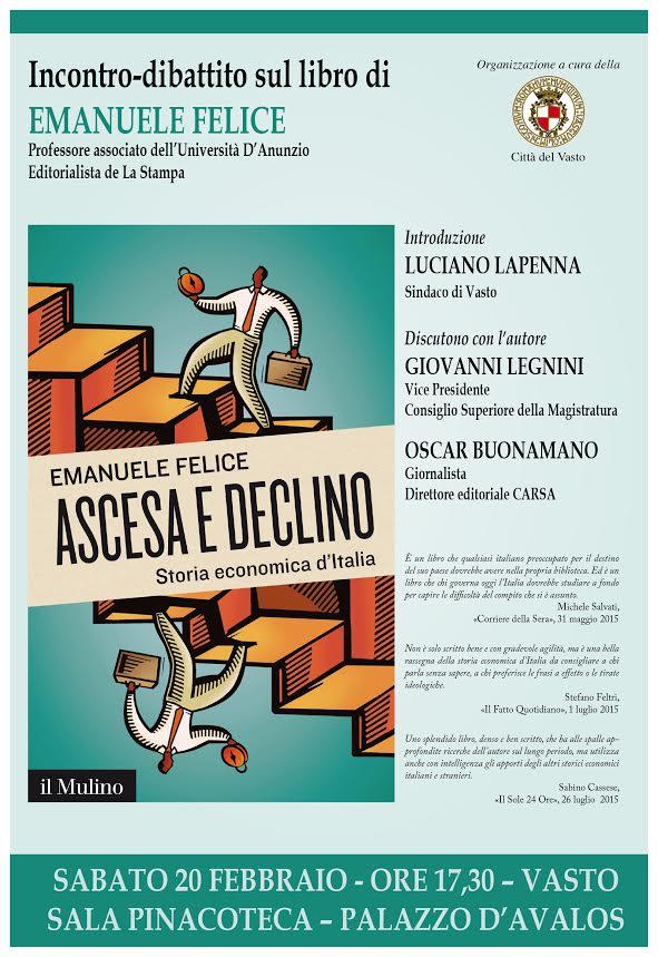 Vasto: presentazione del volume sull'ascesa e il declino dell'Italia