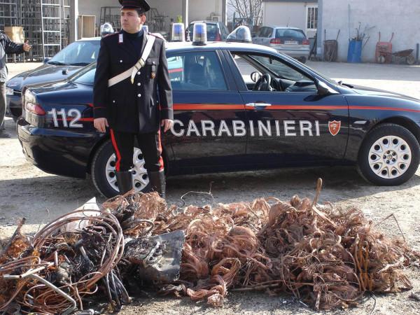Furto di rame a Colonnella: Due arresti in flagrante