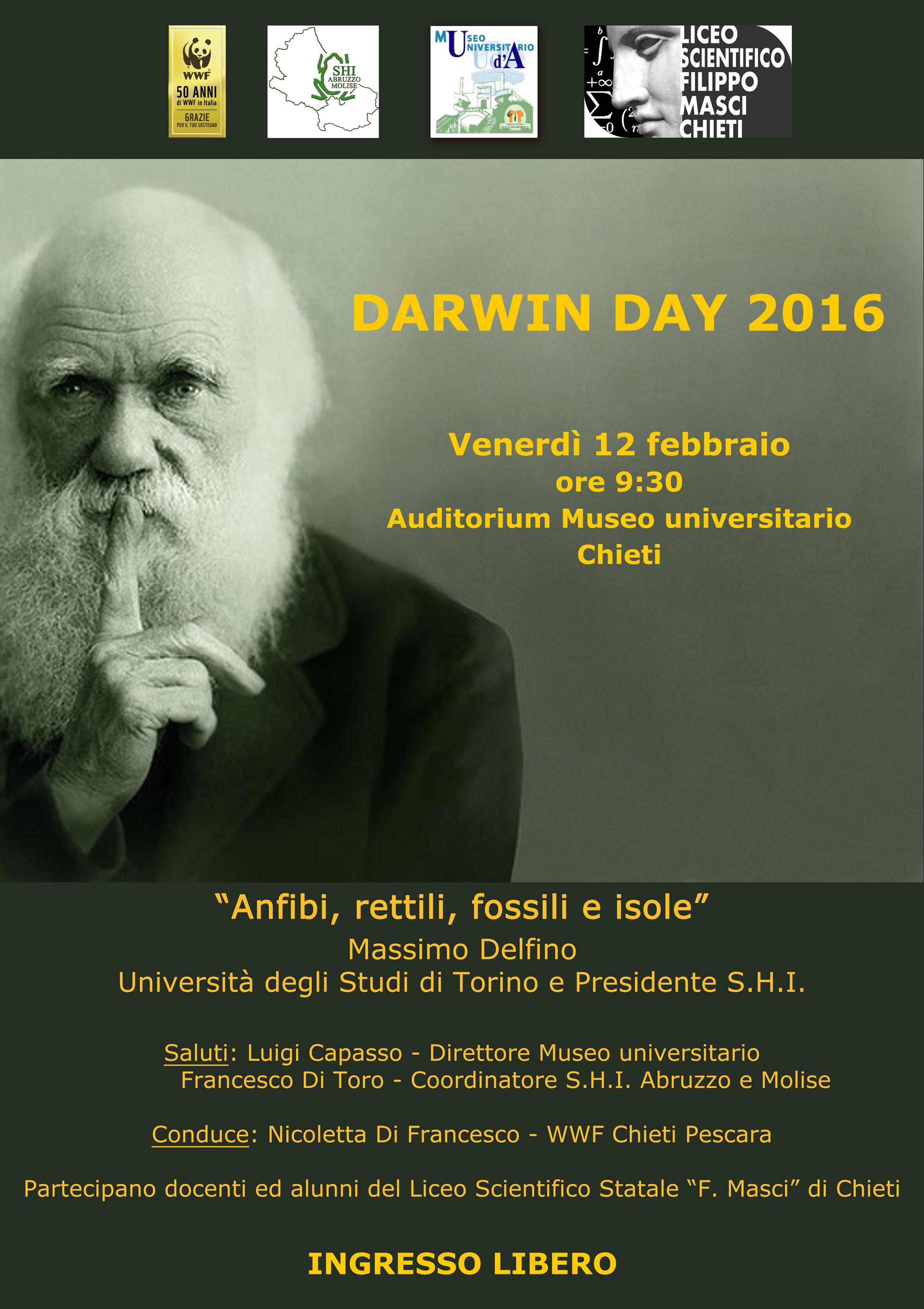 """Wwf: """"Anfibi, rettili, fossili e isole"""" per il Darwin day 2016"""