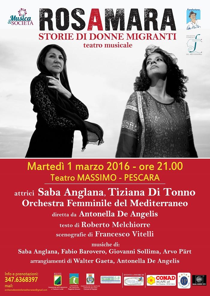 """Giornata Migrante: a Pescara lo spettacolo """"Rosamara"""""""