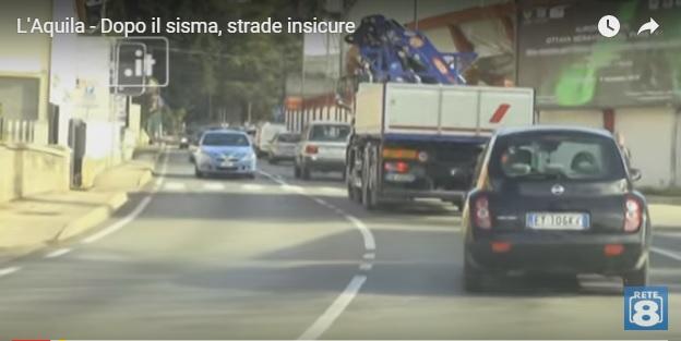 L'Aquila, strade più insicure dopo il sisma