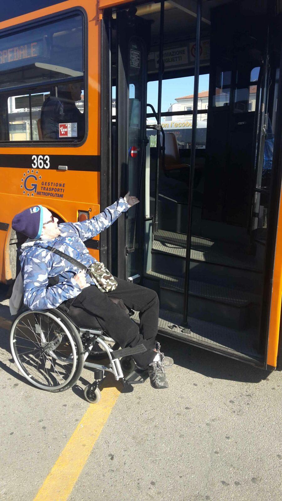 Pescara: autobus inaccessibili ai disabili