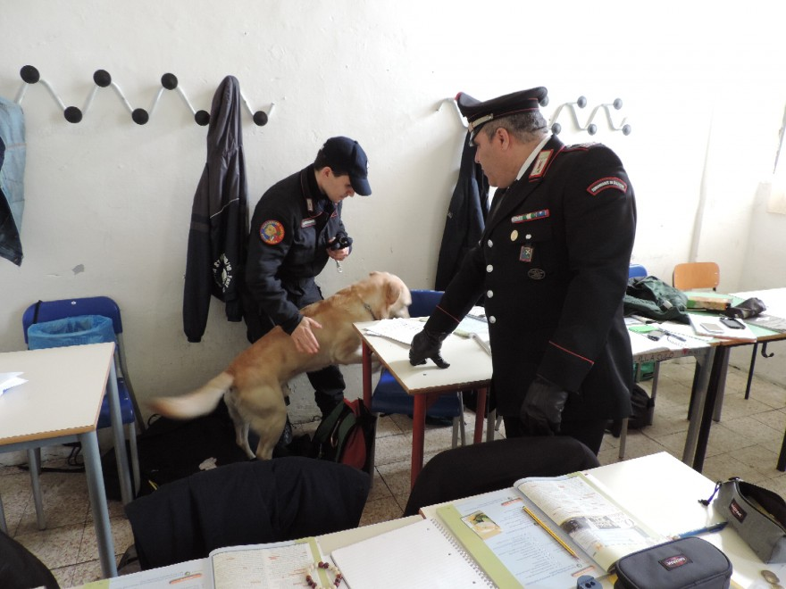 Controlli scuole Abruzzo: 4 studenti trovati in possesso di droga a L'Aquila