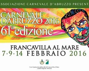 Carnevale d'Abruzzo: oggi la prima sfilata a Francavilla al Mare