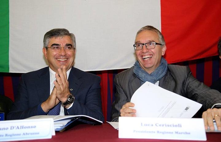 Macroregione, domani incontro riservato Marche Abruzzo