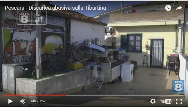 Discarica abusiva in via Tiburtina VIDEO