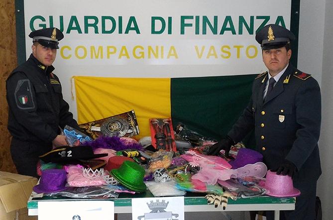 32mila articoli di Carnevale contraffatti nel Vastese. Sequestri della GDF