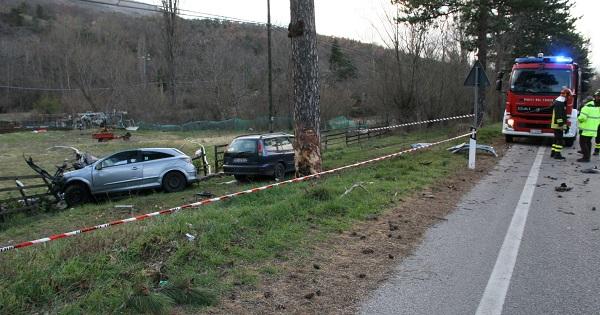 Pettorano, muore a 30 anni contro un albero