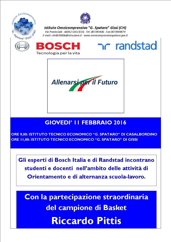 Bosch e Randstad incontrano studenti Istituti Tecnici