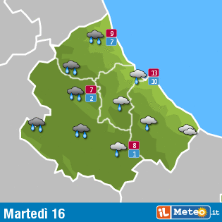 Previsioni meteo Abruzzo 16 febbraio