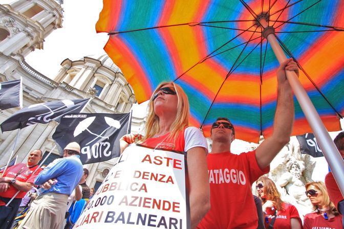 A Roma la protesta dei Balneari