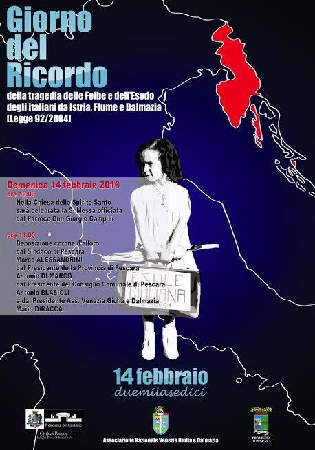 Pescara: una messa di suffragio per le vittime delle foibe