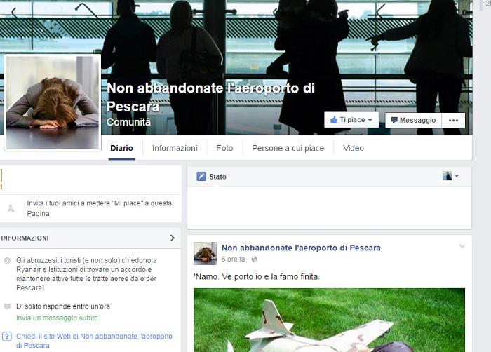 Ryanair Pescara: il popolo del Web si mobilita