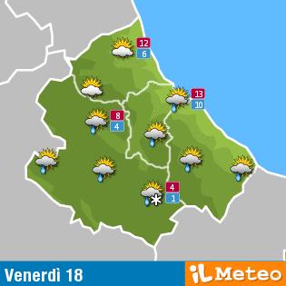 Previsioni meteo Abruzzo 18 marzo