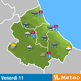 Previsioni meteo Abruzzo 11 marzo