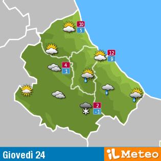 Previsioni meteo Abruzzo 24 marzo