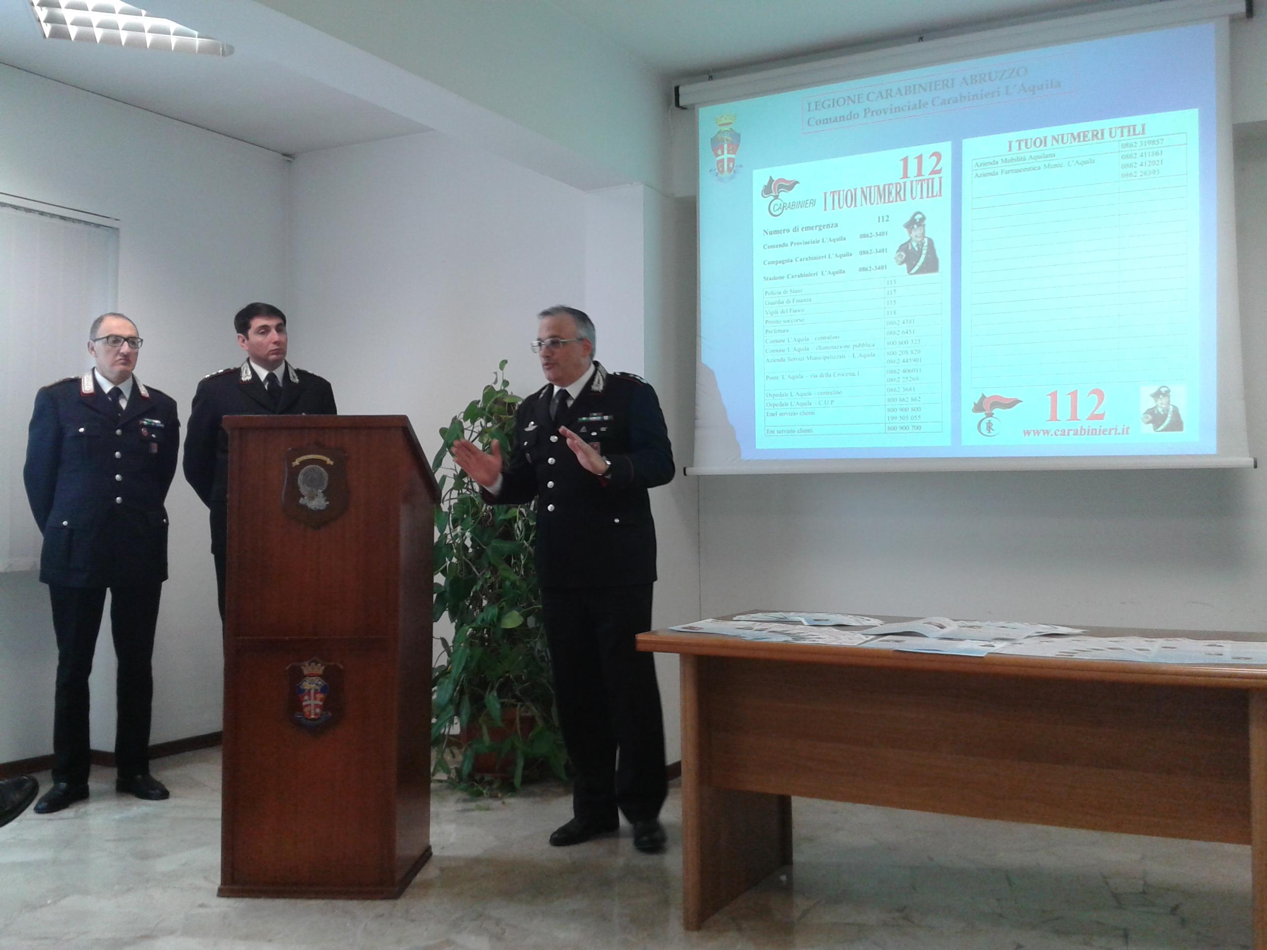 L'Aquila, carabinieri nelle chiese: arginare le truffe agli anziani