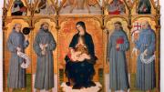 """Giacomo-Da-Campli-Alias-""""Maestro-dei-Polittici-Crivelleschi""""-Madonna-in-trono-col-Bambino-san-Francesco-sa"""