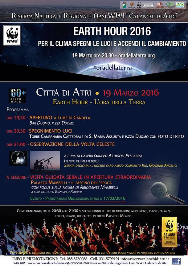 Anche in Abruzzo è l'Ora della Terra