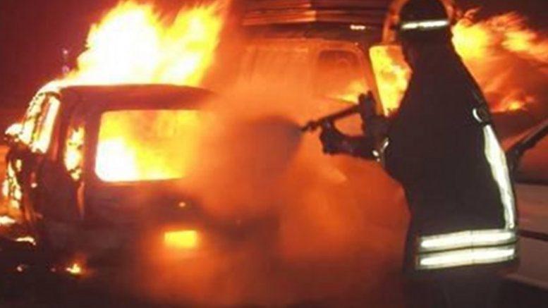 auto-incendiata