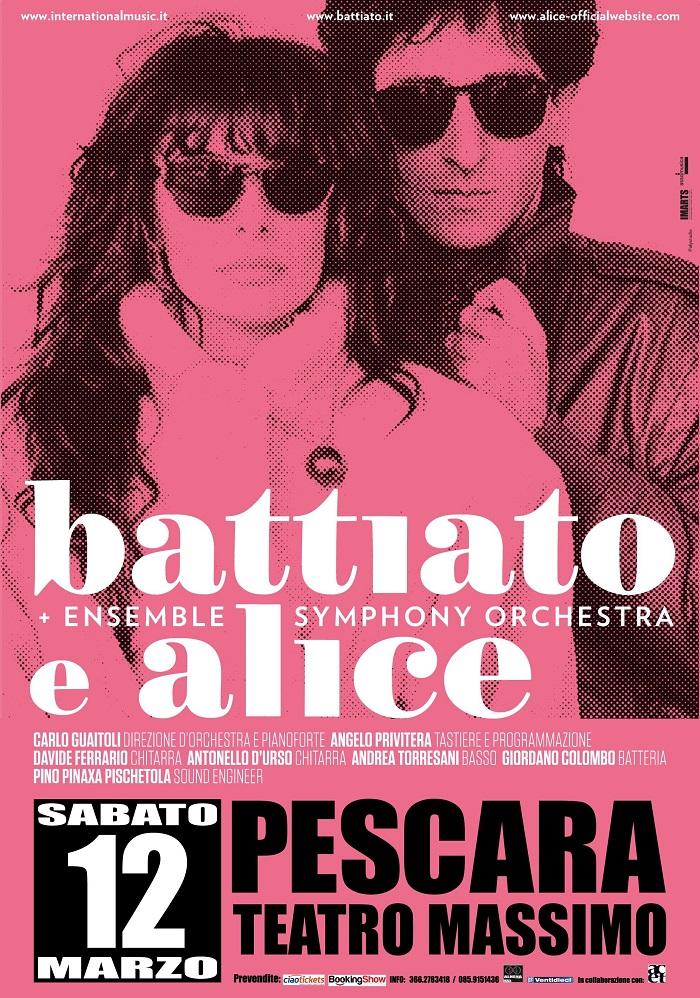 Pescara: sold out per Battiato e Alice al Massimo